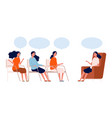 psychotherapy group women consultation with vector image vector image