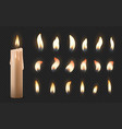 realistic candles 3d burning celebration wax vector image