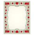 Roses Vintage Frame and Border vector image vector image