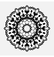 Seamless abstract background with round lace vector image vector image