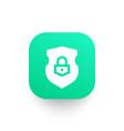 security shield icon vector image vector image