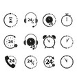 set of non stop 24 time icons vector image vector image