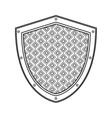 shield emblem icon vector image vector image