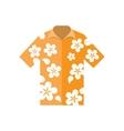 shirt hawaiian flowers vector image