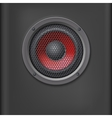 Sound speaker with grille vector image vector image