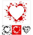 splash heart shape vector image vector image