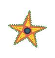 starfish marine or ocean underwater creature vector image