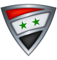 Steel shield with flag syria vector image