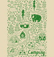 summer camp and national park seamless pattern vector image vector image
