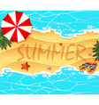 Summer theme background wtih beach and sea vector image vector image