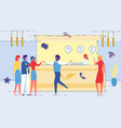 the office workers communication at reception flat vector image