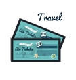 tickets airplane travel design vector image vector image
