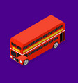 transport red bus 3d isometric view vector image vector image
