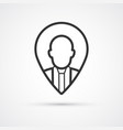 trendy vacancy flat line icon eps10 vector image