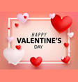 valentines design card flat vector image