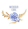 Watercolor floral bouquet vector image vector image