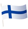 waving flag on a flagpole national vector image
