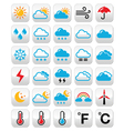 Weather forecast colorful buttons set vector image vector image