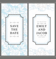 wedding invitation card with tender hand drawn vector image vector image
