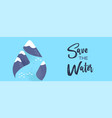 world water day mountain river waterdrop banner vector image