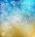 Light blue with yellow bokeh background vector image