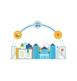 Online education and e-learning concept vector image