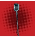 retro microphone and stand vector image