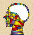 abstract head with brain vector image
