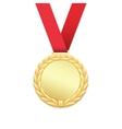 Gold medal winners award vector image