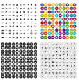 100 sea icons set variant vector image