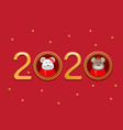 2020 chinese new year year rat couple mouse vector image vector image