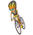A sketch of a bicyclist vector image