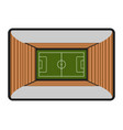 aerial view of a soccer stadium vector image