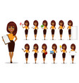 african american business woman set vector image vector image