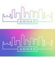 amman skyline colorful linear style editable vector image vector image