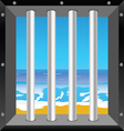 beach in cell vector image vector image