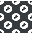 Black hexagon pen nib pattern vector image vector image