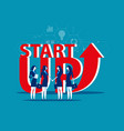 business startup work moments concept vector image vector image