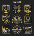 Camping outdoor and adventure gears badge logo vector image vector image
