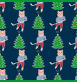 christmas seamless pattern6 vector image vector image