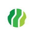 circle technology eco logo vector image vector image