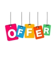 colorful hanging cardboard Tags - offer vector image vector image