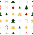 Colorful pixel pattern with christmas elements