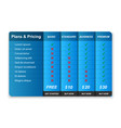 comparison pricing table vector image