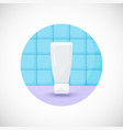 cosmetics tube product flat icon vector image vector image