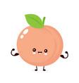cute happy smiling peach vector image vector image