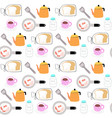 cute seamless pattern cooking and breakfast vector image