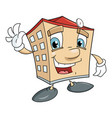 cute smiling house vector image vector image