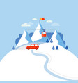 design concept ski mountain vector image