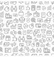 different business app icons seamless pattern vector image